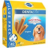 PEDIGREE DENTASTIX Large Dog Chew Treats, Original, 40 Treats Net Wt 943g (2.08lb)