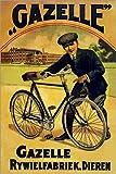 Posterlounge Alu Dibond 120 x 180 cm: Gazelle Rywielen Fahrrad