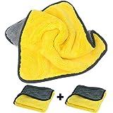 [2 Pack]Microfiber Car Wash Towel,Super Absorbent Car Wash Microfiber Towel,Coral Velvet Double Sided Microfiber Car Cleaning