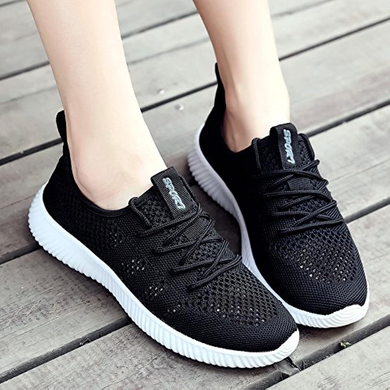 Hasag Zapatos Deportivos Zapatos de Malla de Malla Transpirable Zapatos Netos Ocasionales de Tela, 41, Negro A1