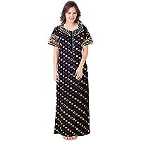 Trendy Fab Women's Cotton Nighty, Nightdress (Free Size)