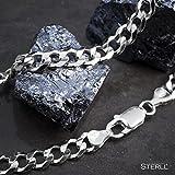 STERLL Herren-Kette aus massivem 925 Silber, ideal als Geschenk für Mann oder Freund, mit Schmuckbox - 4