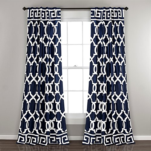 Lush Decor Fenster Vorhang Panel Paar, marine, 213,4x 132,1cm