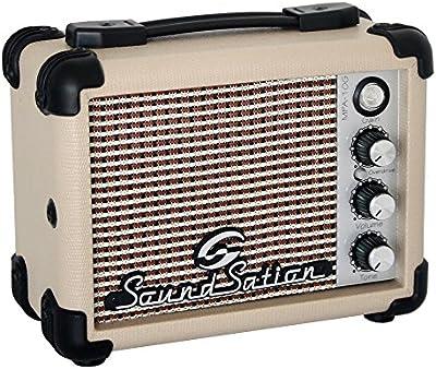 Soundstation - Mini amplificador portátil con batería 5W para guitarra