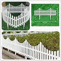KX-YF Niños Chaqueta Impermeable 12 Flexible Blanca de jardín de plástico piquete Lawn Grass Borde del Ribete de la Frontera Decoración Blanca Chubasquero (Color : White, Size : Ones)
