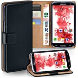 OneFlow PREMIUM - Book-Style Case im Portemonnaie Design mit Stand-Funktion - für Samsung Galaxy S3 / S3 Neo (GT-i9300 / GT-i9301) - SCHWARZ