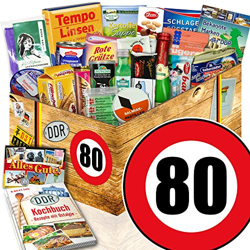 Ostalgie Set | Spezialitäten Geschenk | Geburtstag 80 | Geschenk Idee Papa