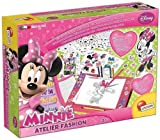 Liscianigiochi 40162 - Diseña tu moda con mesa luminosa, diseño de Minnie