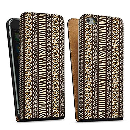 Apple iPhone 5 Housse étui coque protection Imprimé animal Afrique Zèbre Sac Downflip noir
