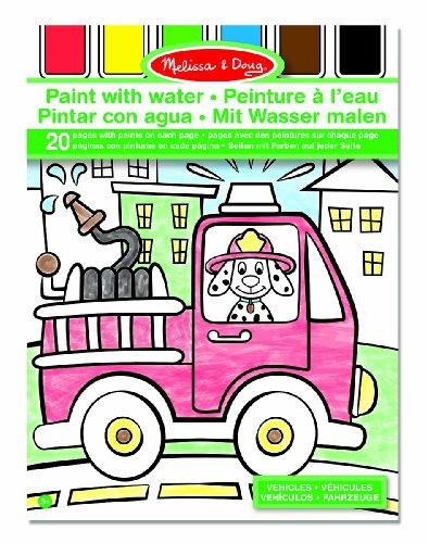Melissa & Doug Malen mit Wasser und auslaufsicheren Farben - Fahrzeuge (20 Seiten)