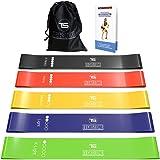 TechStone Set med motståndsband för män och kvinnor, 5-pack olika motståndsnivåer elastiskt band för hemmagym lång träning –