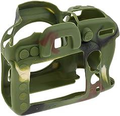 Segolike Protective Soft Silicone Shockproof Case Cover for Nikon D7100 D7200 DSLR Camera Camo