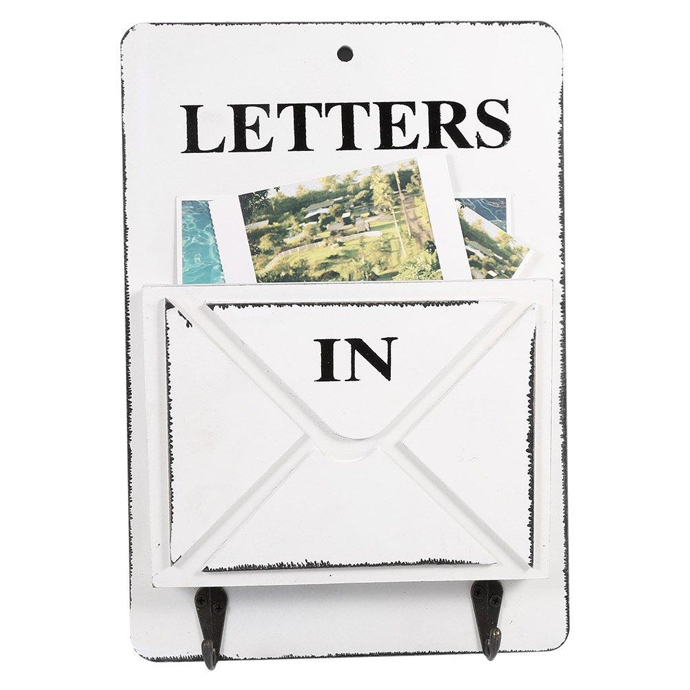 aramox bo te aux lettres en bois porte courrier mural et porte cl s mural d coration de la. Black Bedroom Furniture Sets. Home Design Ideas