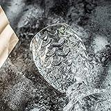 CNBB Squisita Sirena Rilievo Calice Scala Grano Birra Whisky Succo di Vino Tazza di Vetro Bilancia di Pesce Coppa di Bicchieri di Champagne in Rilievo