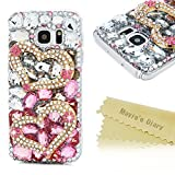 Mavis s Diary Galaxy s7 case 3D Handmade Luxury Bling Crystal Double Golden