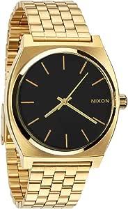 Nixon Orologio da Uomo disponibile in 9 Colori, Nixon Time Teller Oro Quadrante Nero in Acciaio Inox. A045-2042