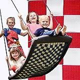 Große Mehrkindschaukel STANDARD weiß/rot für 4 Kinder, 136 x 66 cm (SPR.L.105) - das Original direkt vom Hersteller die-schaukel.de