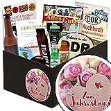 Zum Jahrestag | Männer Box | Geschenkkorb | Zum Jahrestag | inkl Markenbuch | Männer Box | Geschenk zum Jahrestag Beziehung | mit Bier, Kondomen und mehr
