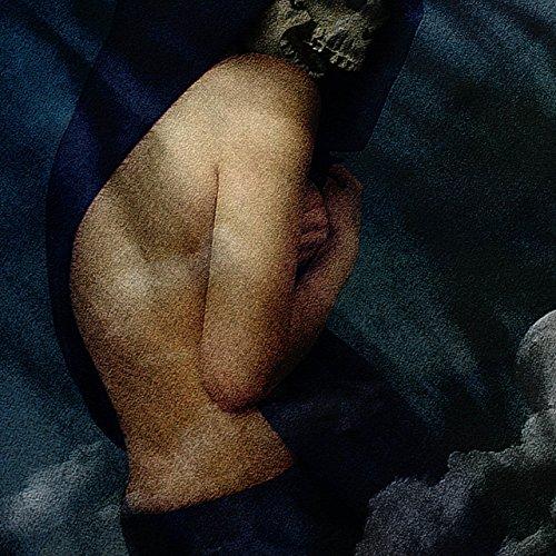 Nackt Mond Schädel Fantasie Tod Kunst Damen S-2XL Muskelshirt | Wellcoda Weiß