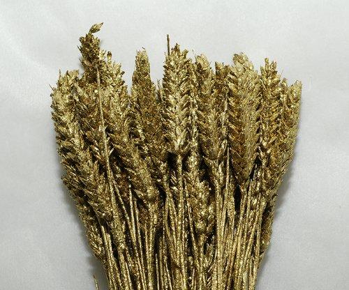 Granetto naturale glitterato e colorato da 60 cm (oro)