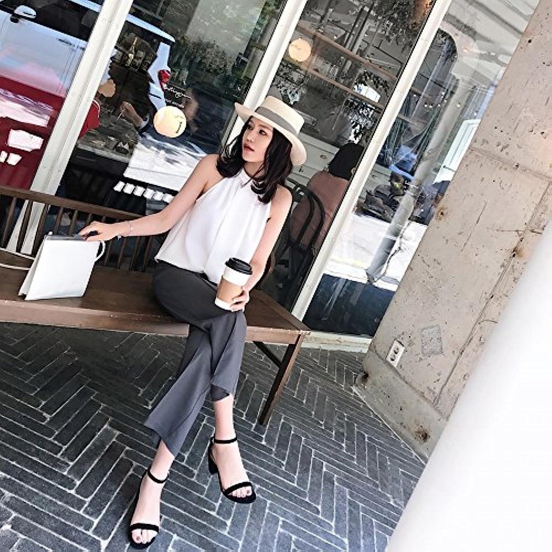 High heels Una parola con ruvida scarpa aperte con sandalo fatato scarpe aperte scarpa a punta alta,UN,36 9e79c0