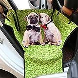 Zhjz morbido peluche Pet Car Seat cover protettiva muti-funzionale Pet Travel cuscino gatti e cani Cool Sleeping Travel sedili amaca coperta impermeabile Protector per letti Pet coprisedile posteriore (verde)