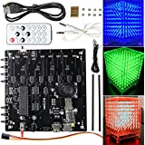 bestweekend 3d cubo de luz Kit 8x 8x 8rojo verde azul LED MP3Música espectro electrónico DIY Kit