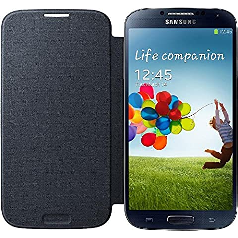 Samsung Flip - Funda para móvil Galaxy S4 (Con tapa, protección del terminal, sustituye a la tapa trasera),