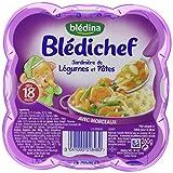 Blédina Blédichef Assiette Plats Complets du Soir Jardinière de Légumes Pâtes dès 18 Mois 260 g - Lot de 6