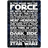 In This House.. Star Wars (Hyper) - Metal Wall Sign Plaque Art Inspirational