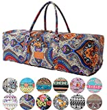 Yoga Mat Bag »Ghanpati« from #DoYourYoga / made of 100% fine canvas (sailcloth)- carry kit (multifunctional storage like towel, wallet ..) pilates fitness & aerobics mats up to a size of 186x62x1.5cm