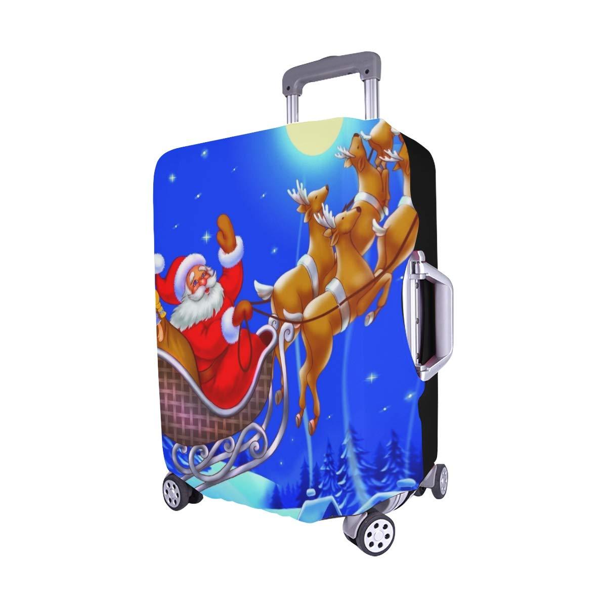 christmas weihnachtsmann fliegt auf schlitten stock. Black Bedroom Furniture Sets. Home Design Ideas