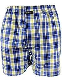 Webboxer Boxershorts Boxer von CITYLIFE für Jungen blau gelb weiss 140 152 164 176