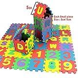 ZEARO Puzzle Enfant -Tapis Mousse Bebe Antidérapant Epais Tapis de Jeu au Sol Exterieur Alphabets & Chiffres Tapis éducatif