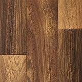 PVC-Boden Holzdielenoptik Eiche Dunkel Braun Vliesrücken| Muster | Vinylboden versch. Längen | Fußbodenheizung geeignet | PVC Platten strapazierfähig & pflegeleicht | Rutschhemmender Fußboden-Belag