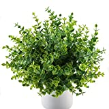 MIHOUNION 4 Bunches Realistic Artificial Plants Spring Green - Best Reviews Guide