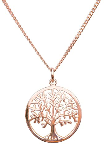 ANTOMUS ROSE GOLD PLATED SILVER TREE OF LIFE YGGDRASIL ADJUSTABLE