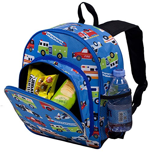 61OaBr2%2BTGL. SS500  - Wildkin Toddler Backpack-Action Vehicles, Polyester, Multi-Colour, Pack 'n Snack