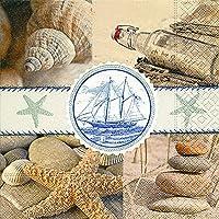 20tovaglioli per il pranzo 33x 33cm Souvenirs del mare Maritim Souvenirs of the Sea Vintage