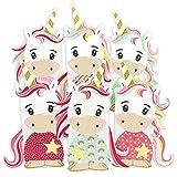DIY Einhorn Geschenktüten Set - Mitgebsel für Kindergeburtstag - zum selber Basteln und Befüllen - von Papierdrachen