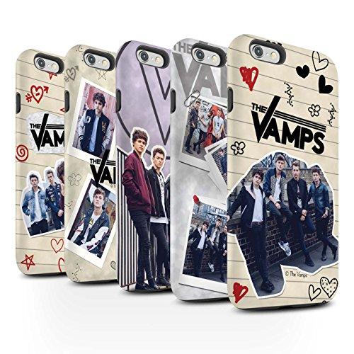 Officiel The Vamps Coque / Matte Robuste Antichoc Etui pour Apple iPhone 6 / Pack 5Pcs Design / The Vamps Livre Doodle Collection Pack 5Pcs
