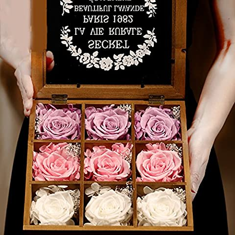 Eternal Flower Gift Box/Glass DIY Dried Flower Ornaments/Creative, Birthday, Holiday,Gift Of