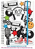 2016 2017 A5 Page A Day Spiral Bound Academic Student Diary - Music & Stationery
