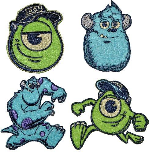 alles-meine.de GmbH Disney Monster AG 7,1 cm * 6,3 cm Bügelbild - Aufnäher Applikation Mike Glotzkowski James P. Sulley Sullivan