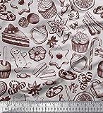 Soimoi Grau Satin Seide Stoff Cupcake, Kekse &