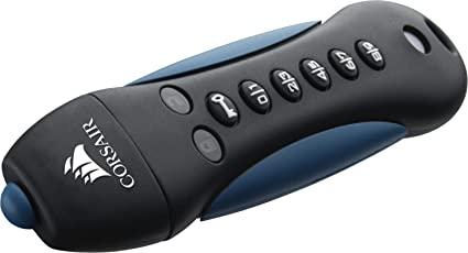 Corsair Flash Padlock 3 64GB Secure verschlüsselter USB-Flash-Laufwerk USB 3.0, schwarz/blau