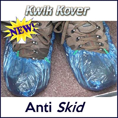 100 Disposable Overshoes ANTI-SKID Covers for use with or without the Kwik Kover Dispenser - low-cost UK light store.