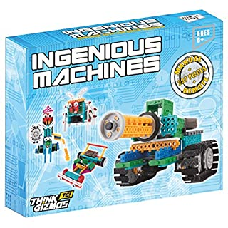 Roboter Zum Zusammenbauen - Roboter Set für Kinder - Ingenious Machines Bausatz für ferngesteuertes Spielzeug - TG633 Toller und unterhaltsamer Bausatz & Konstruktionsspielzeug von ThinkGizmos markenrechtlich geschützt (alle Batterien enthalten).
