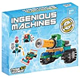 Robot Kit For Kids – Ingenious Machines Build Your Own Robot Kit – TG633 Awesome Fun Building Set & Construction Toy by ThinkGizmos ® (All batteries included)