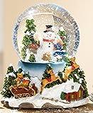 GILDE Schüttelkugel mit Spieluhr Schneekugel Winterlandschaft mit wechsel LED, 18 cm
